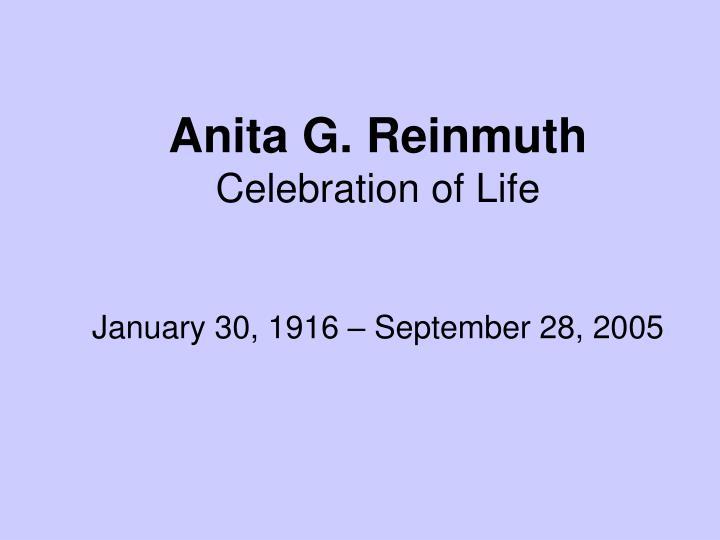Anita G. Reinmuth
