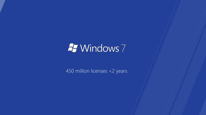 450 million licenses <2 years