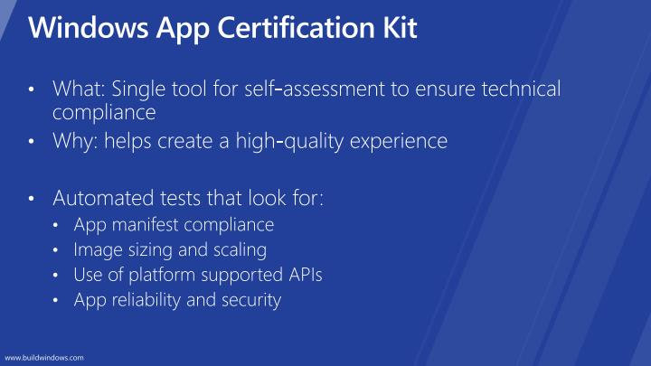 Windows App Certification Kit