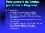 presupuesto de ventas por zonas o regiones1