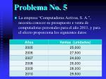 problema no 5