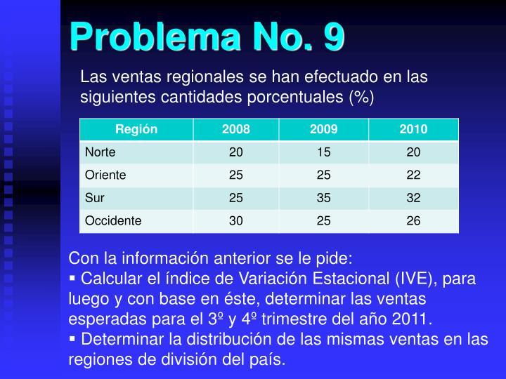 Problema No. 9