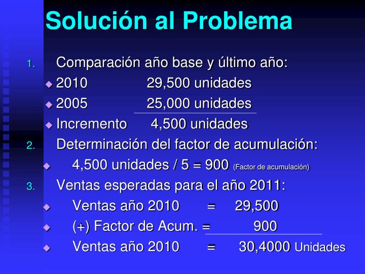 Solución al Problema