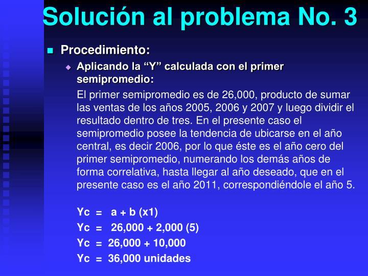 Solución al problema No. 3