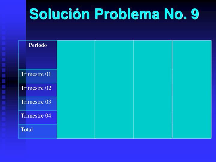 Solución Problema No. 9