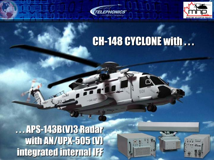 . . . APS-143B(V)3 Radar with AN/UPX-505 (V) integrated internal IFF