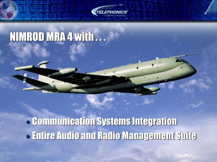 NIMROD MRA 4 with . . .