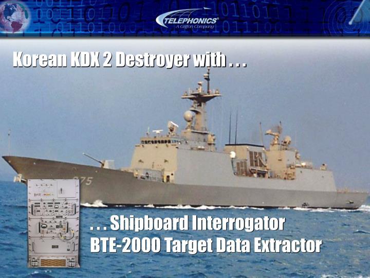 . . . Shipboard Interrogator