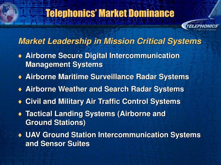 Telephonics' Market Dominance