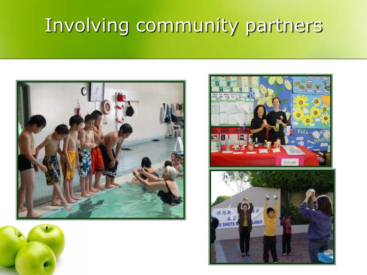 Involving community partners