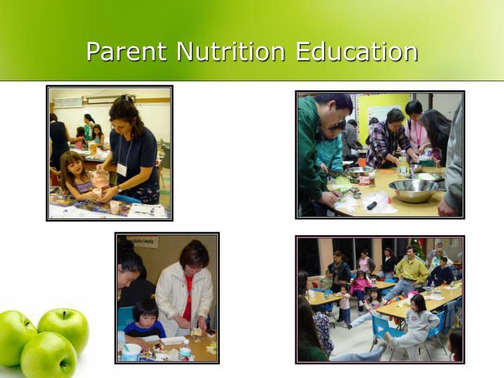 Parent Nutrition Education