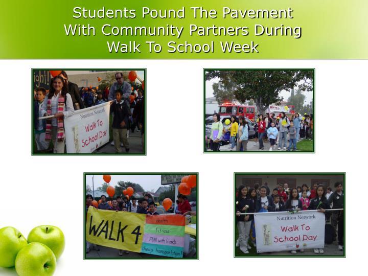 Students Pound The Pavement