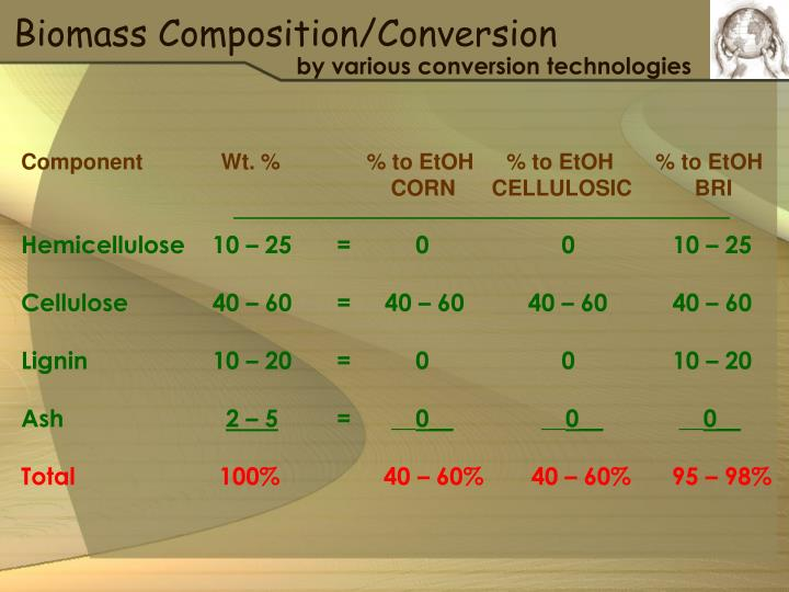 Biomass Composition/Conversion
