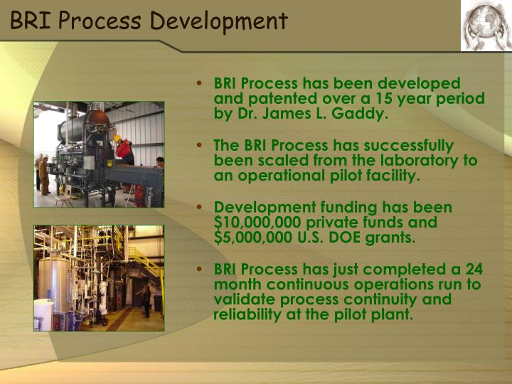 BRI Process Development