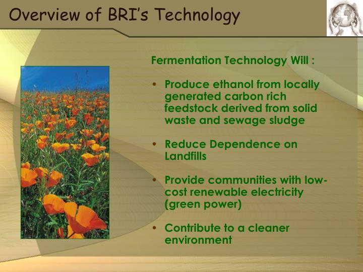 Fermentation Technology Will :