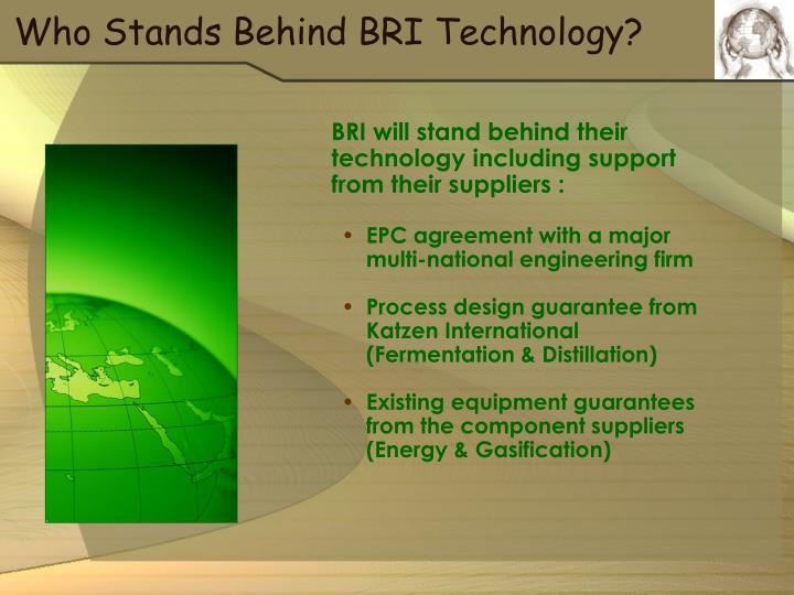 Who Stands Behind BRI Technology?