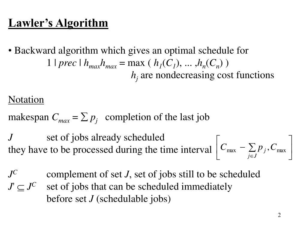 Lawler's Algorithm