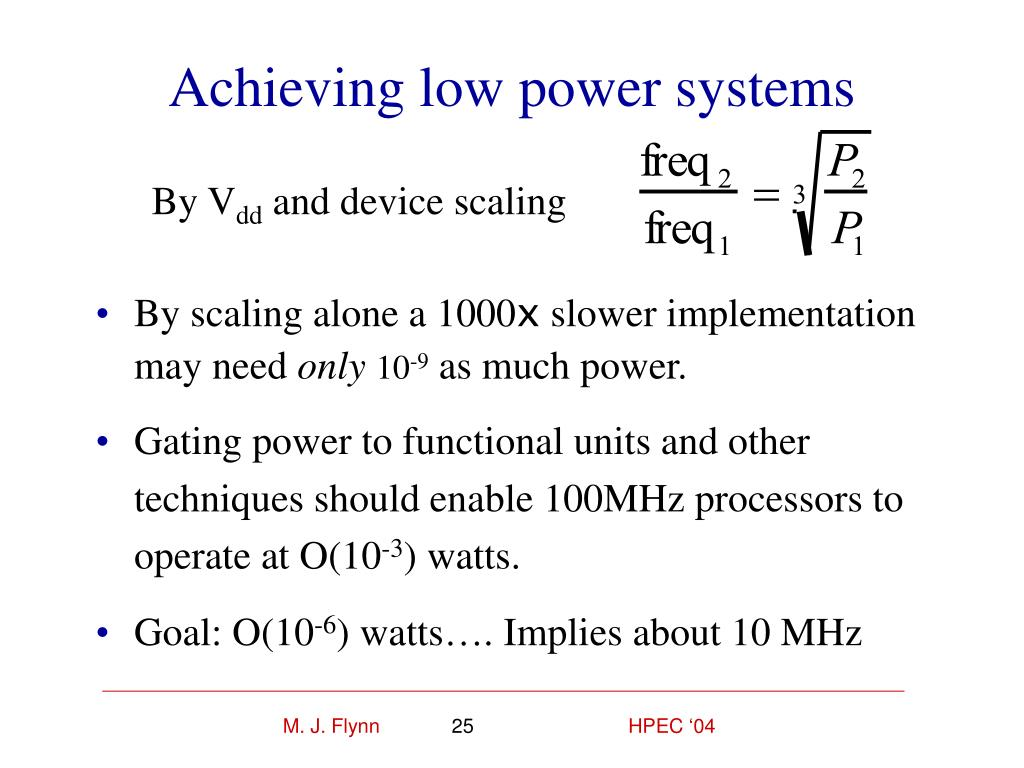 Achieving low power systems
