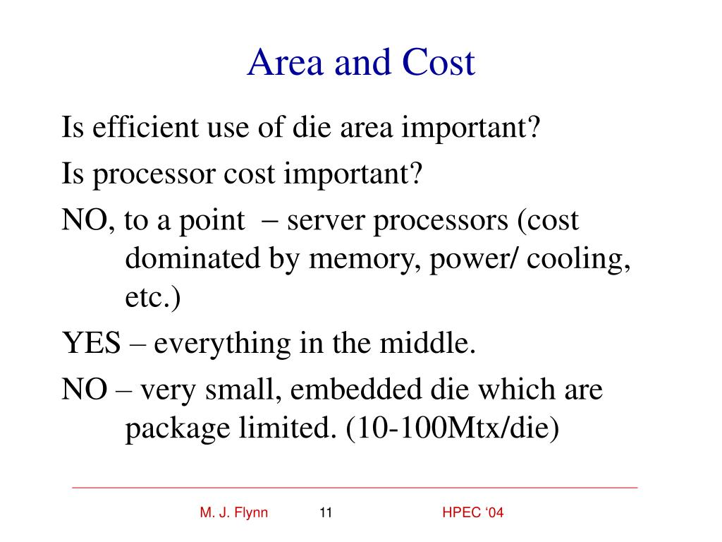 Area and Cost