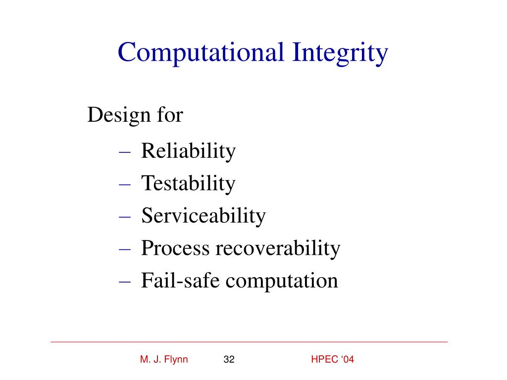 Computational Integrity