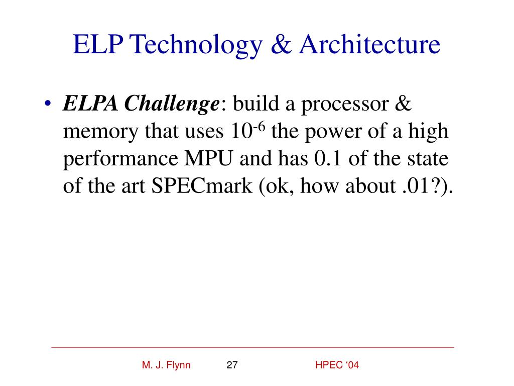ELP Technology & Architecture