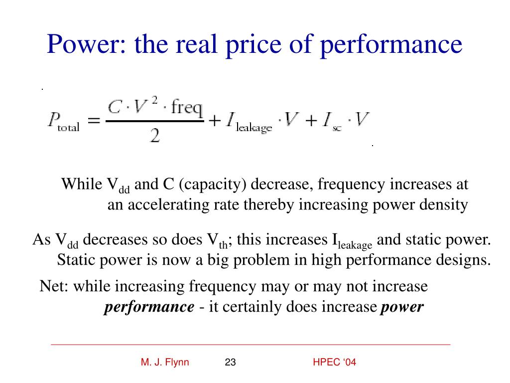 Power: the real price of performance