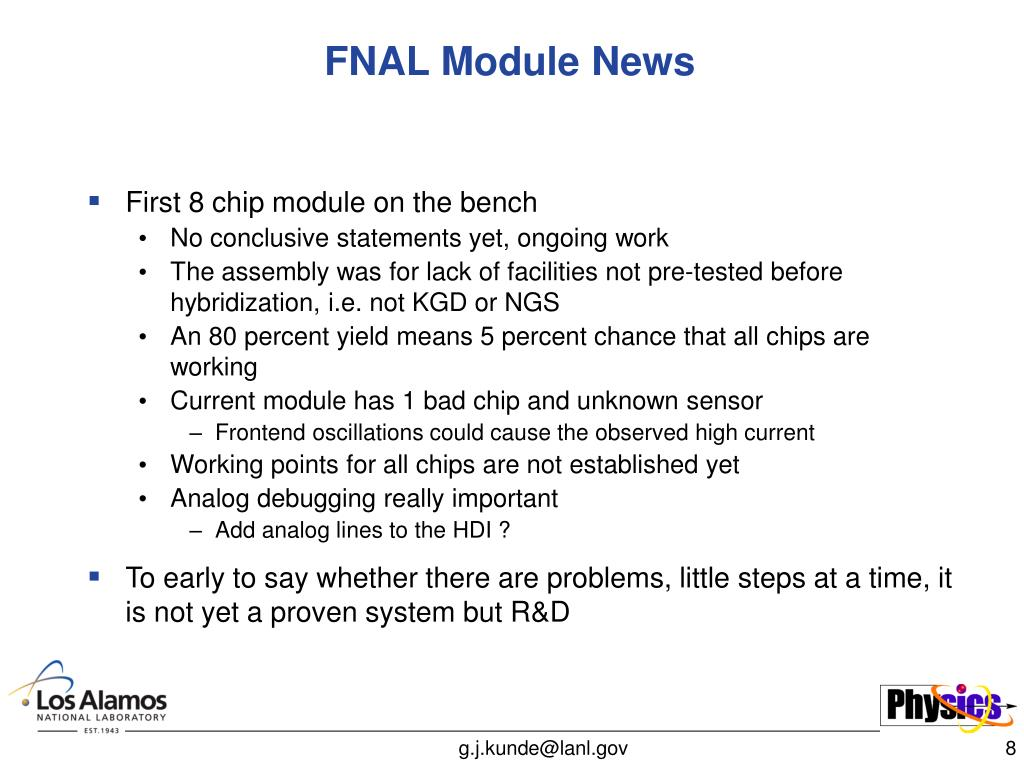 FNAL Module News