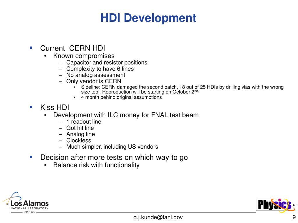 HDI Development