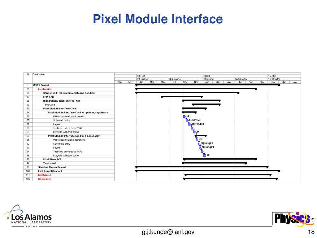 Pixel Module Interface
