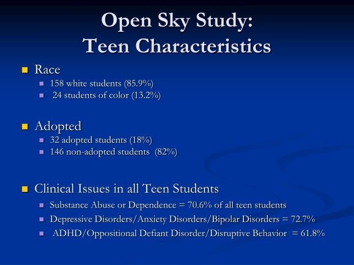 Open Sky Study: