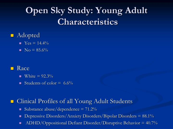 Open Sky Study: Young Adult