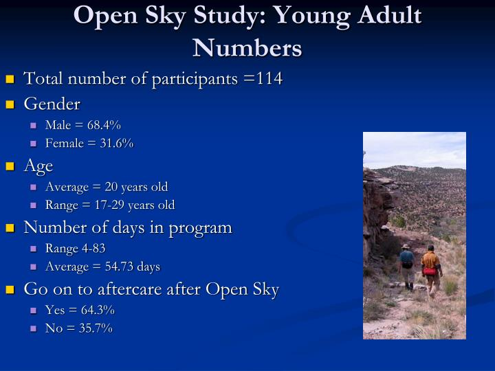 Open Sky Study: Young Adult Numbers