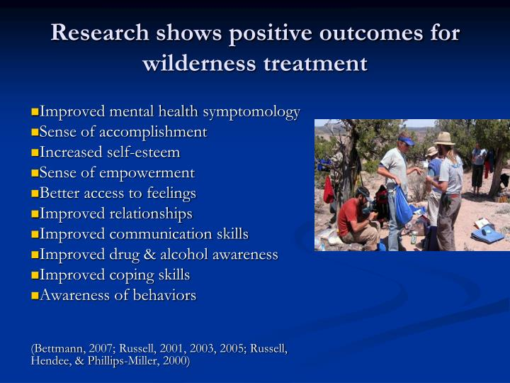Research shows positive outcomes for wilderness treatment