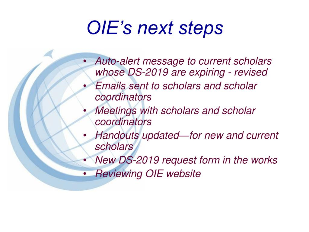 OIE's next steps