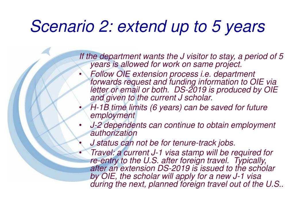 Scenario 2: extend up to 5 years