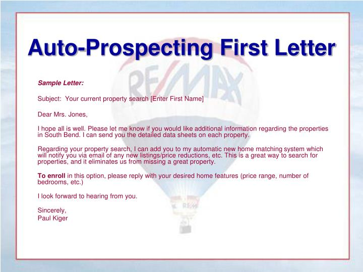 Auto-Prospecting First Letter