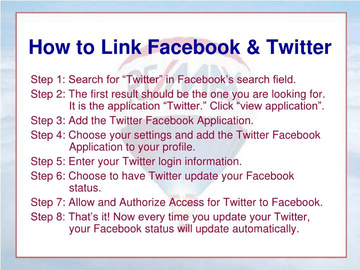 How to Link Facebook & Twitter