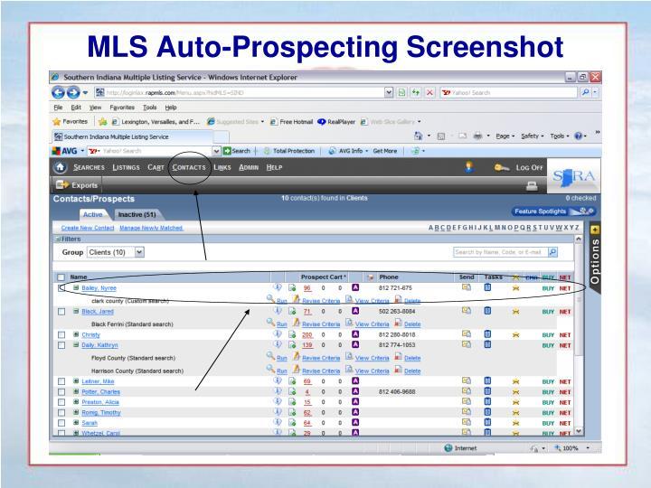 MLS Auto-Prospecting Screenshot