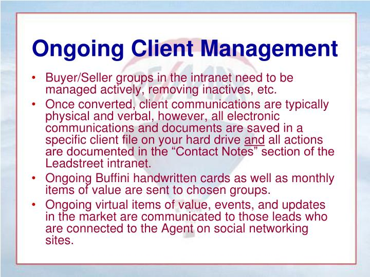 Ongoing Client Management