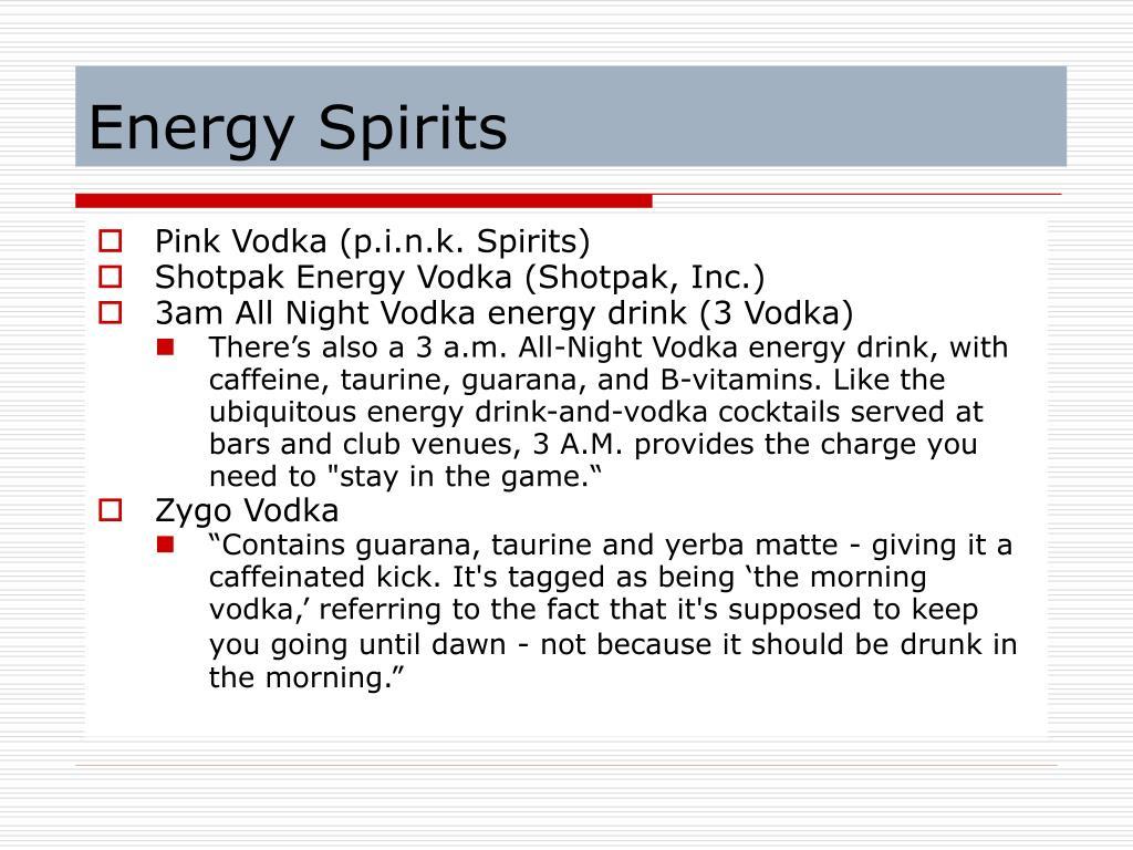 Energy Spirits