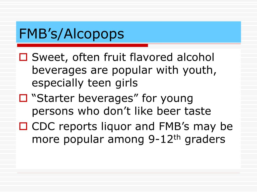 FMB's/Alcopops