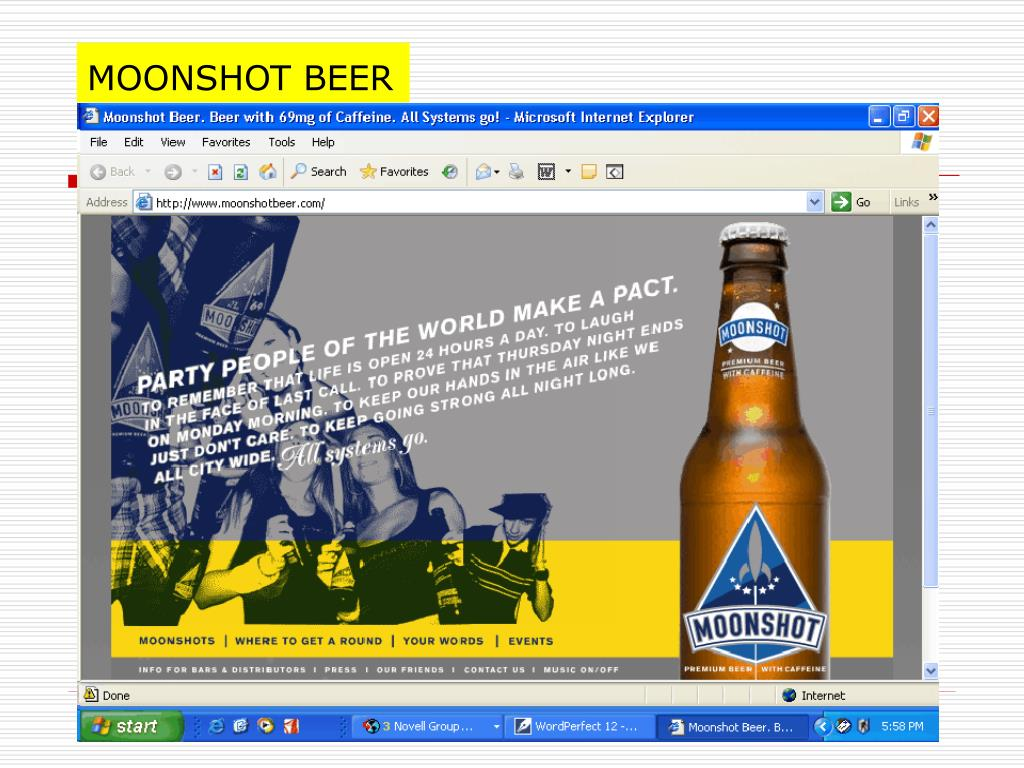 MOONSHOT BEER