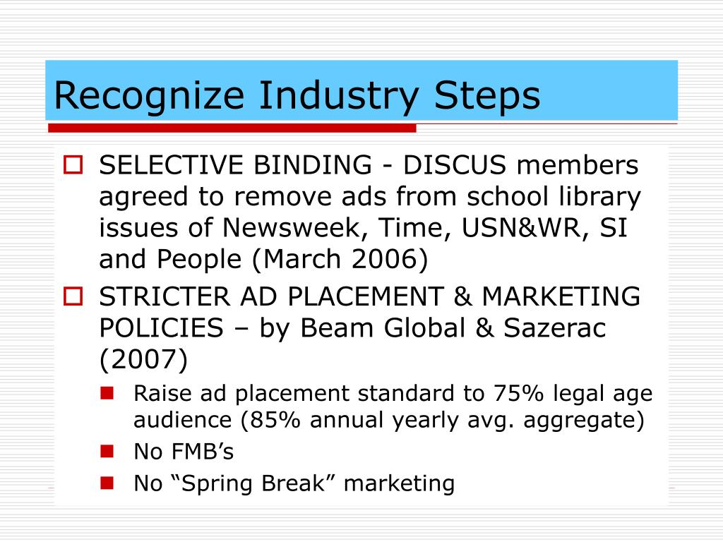 Recognize Industry Steps