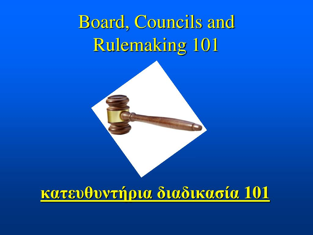 Board, Councils and