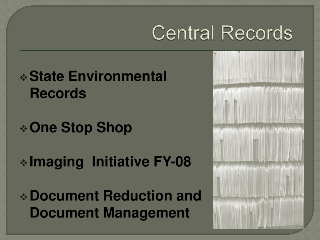 State Environmental Records