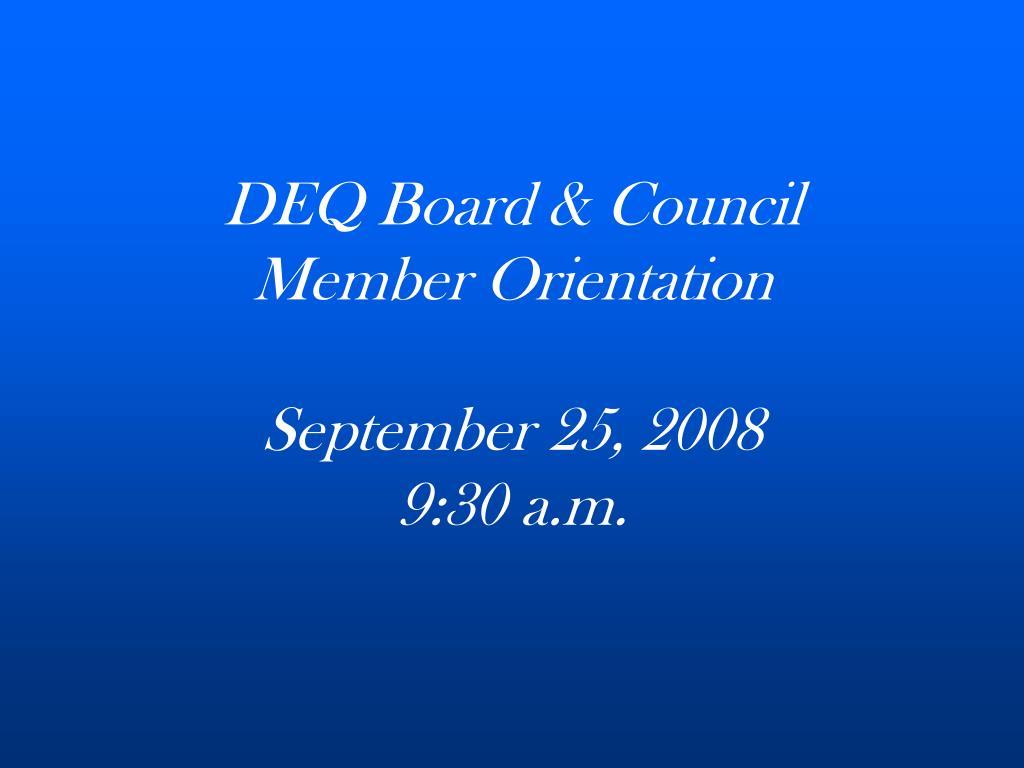 DEQ Board & Council