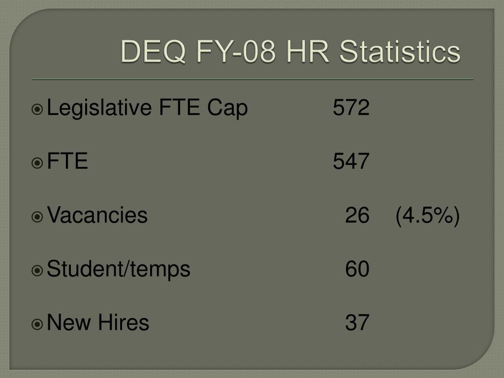 DEQ FY-08 HR Statistics