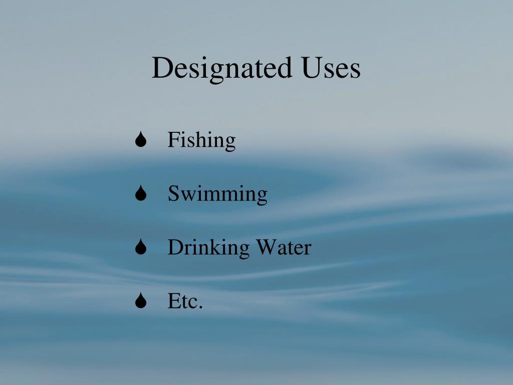 Designated Uses