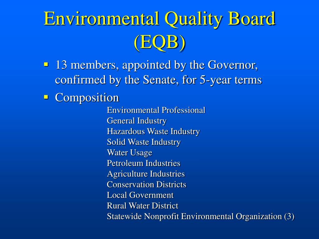 Environmental Quality Board (EQB)