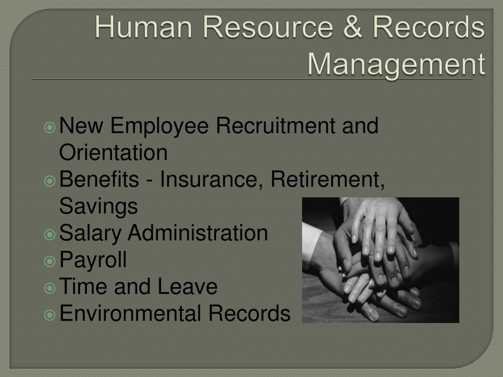 Human Resource & Records Management